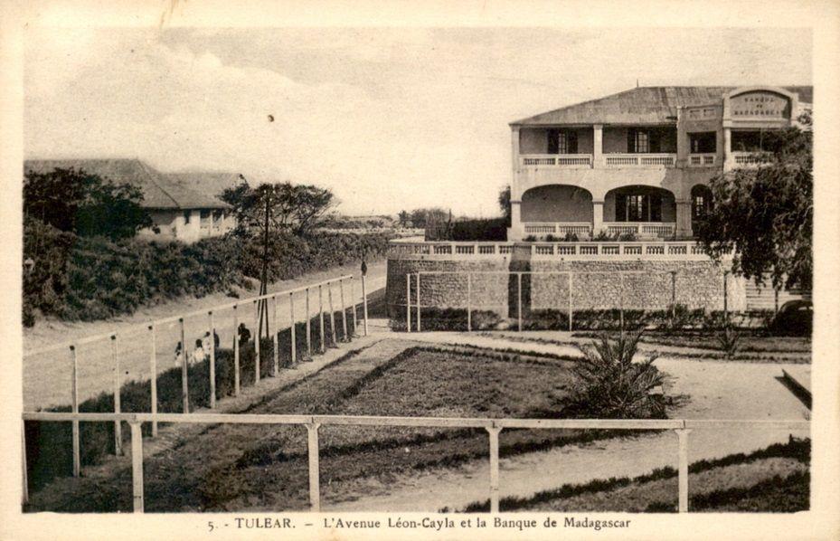 L'avenue Léon Cayala et la Banque de Madagascar