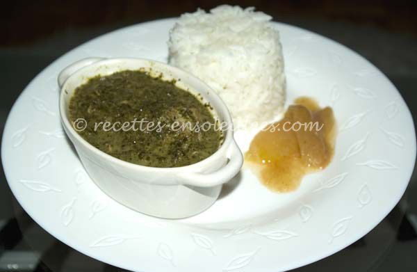 Feuilles de manioc à la viande de bœuf
