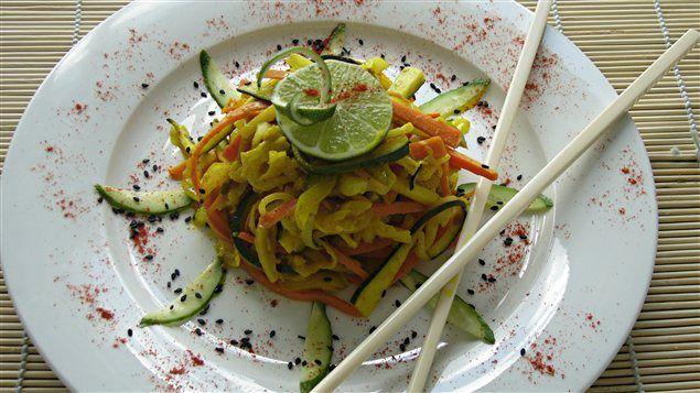 Légumes au curcuma et gingembre