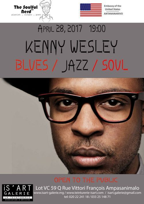 Is'Art Galerie / La Teinturerie - Kenny Wesley (USA) en concert ce vendredi