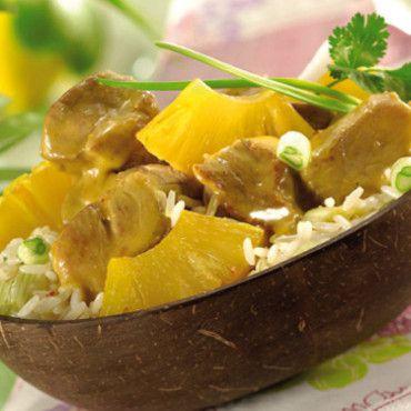 Curry de porc à l'ananas
