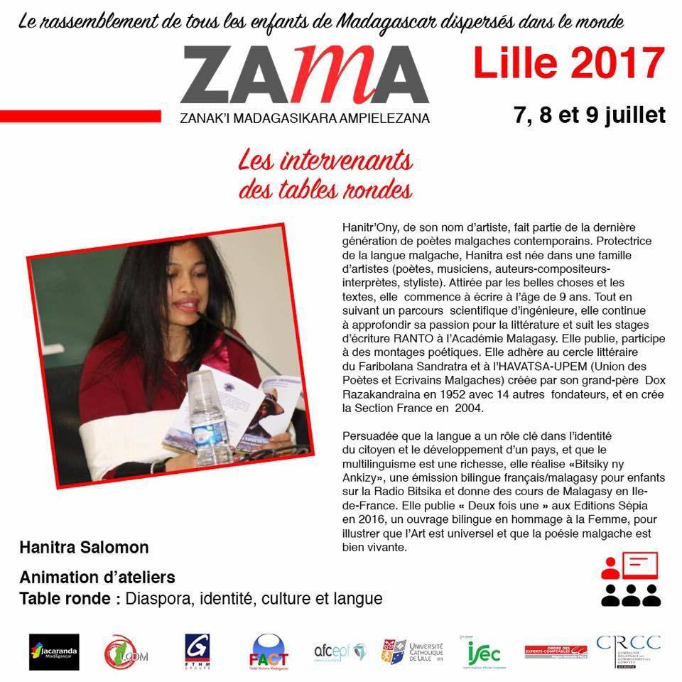 ZAMA LILLE 2017, 7, 8et 9juilletla