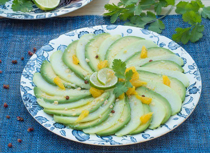 Salade exotique avocat-chayotte