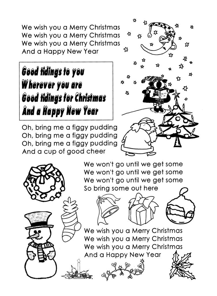"""Noël paroles du chant """" We wish you a merry christmas """" - école ..."""