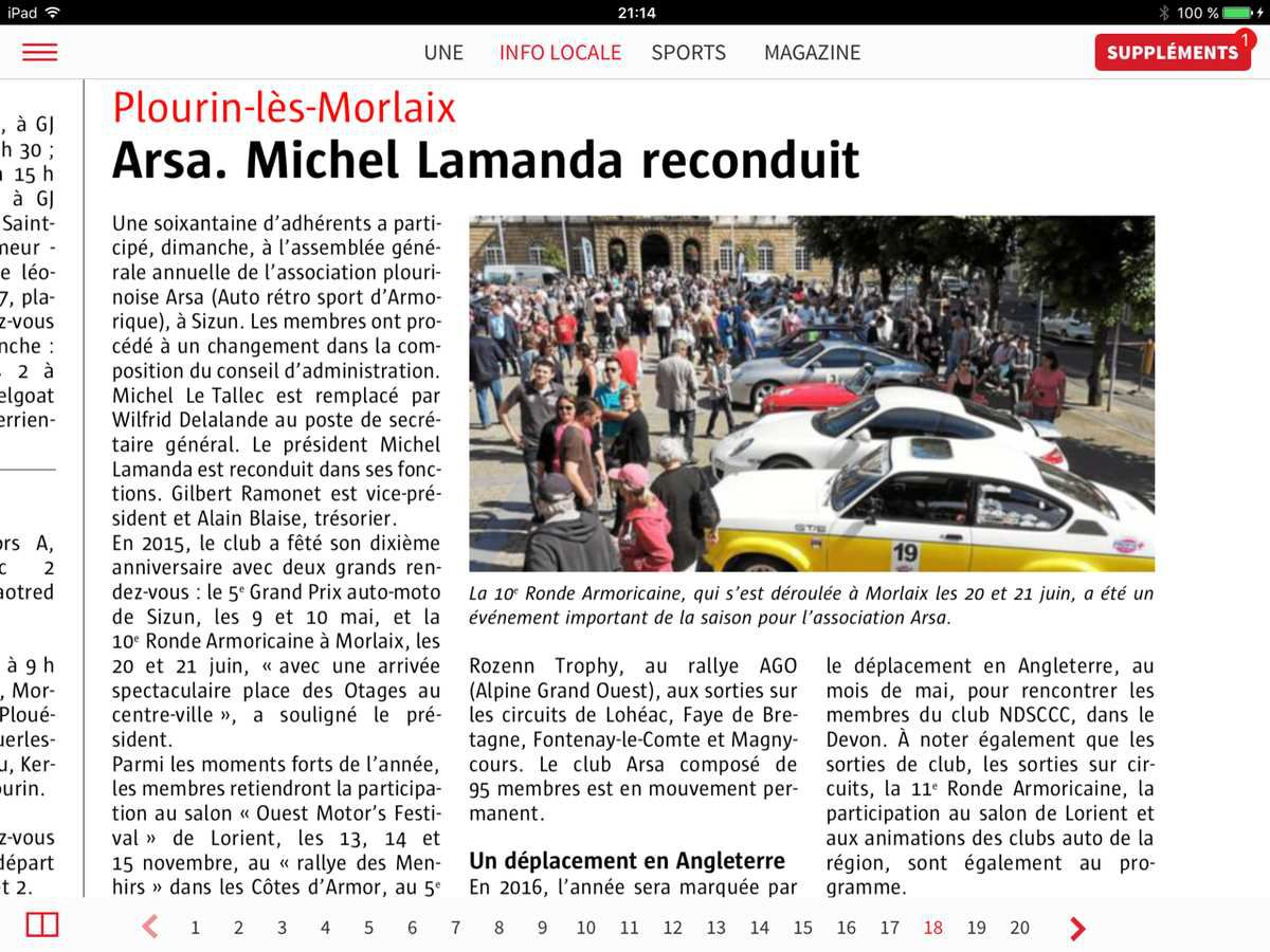 Article de presse sur l 39 assembl e g n rale 2016 auto for Article de restaurant