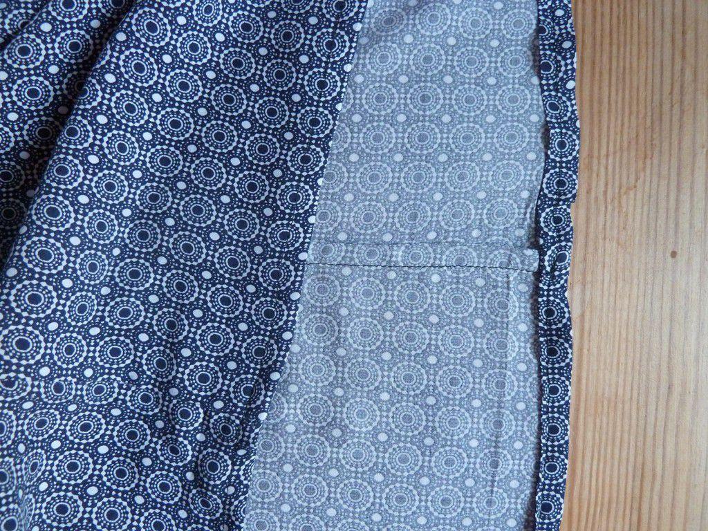 Les coutures intérieures sont propres ( super, la technique de la couture anglaise) .