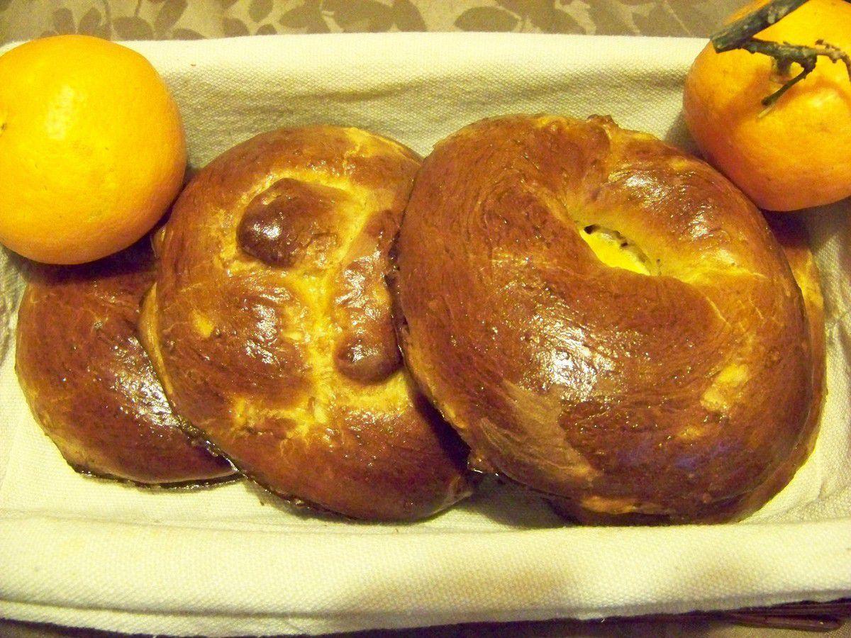 Galettes briochées individuelles aux oranges confites