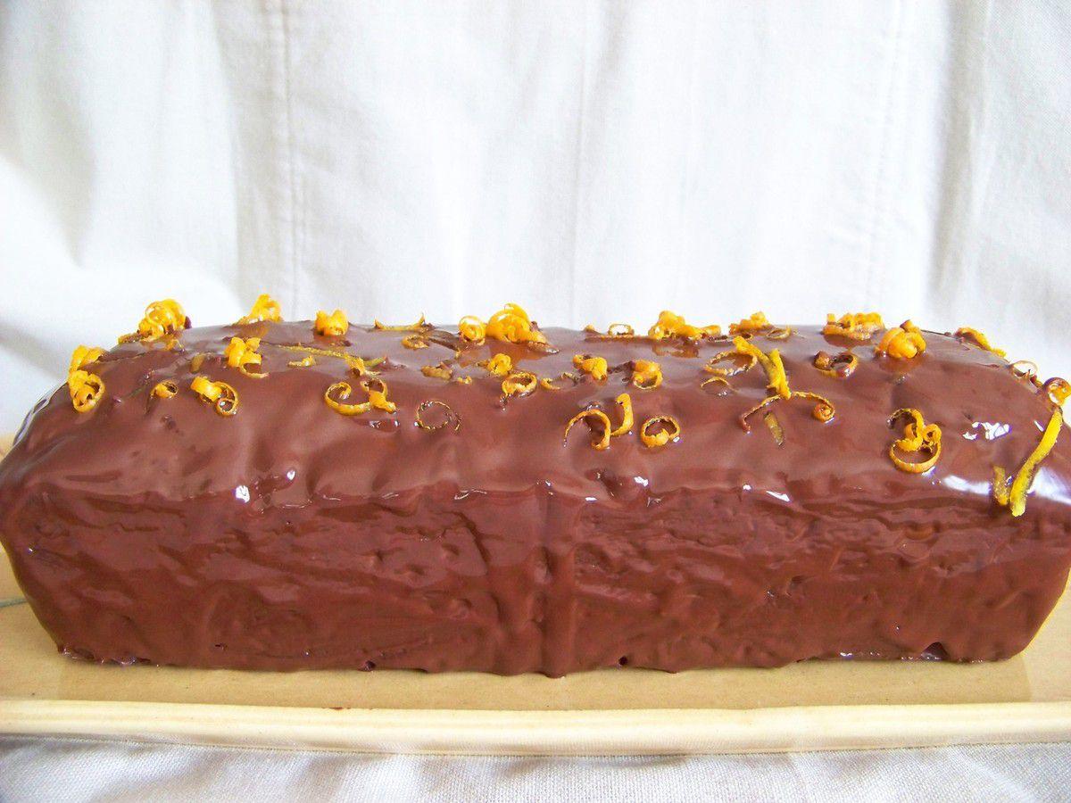 Cake fondant aux oranges confites et chocolat noir