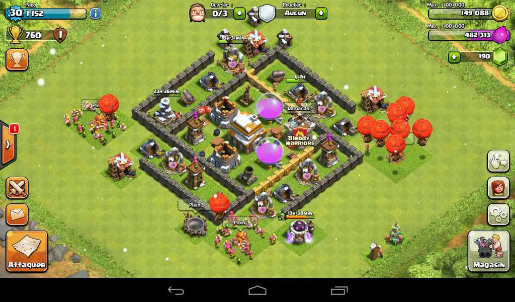 village pour hdv de niveau 5 hybride clash of clans compagnie. Black Bedroom Furniture Sets. Home Design Ideas