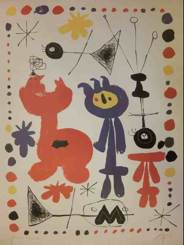 Joan mir 1893 1983 la vraie cr ation ladilettantelle for Joan miro interieur hollandais