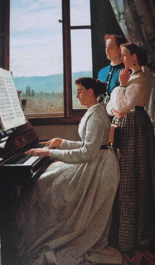 Le chant de l'étourneau - Silvestro Lega - 1867