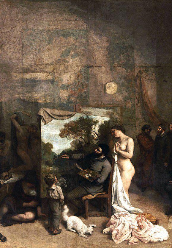 L'atelier de Courbet  Sous titre , Allégorie réelle déterminant une phase de sept années de ma vie artistique