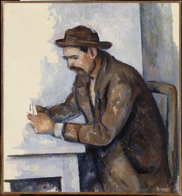 Le joueur de cartes (étude) Cézanne Paul (1839-1906)