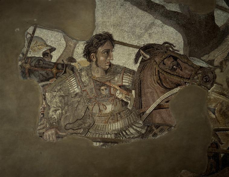 Exèdre du premier péristyle : La Bataille d'Alexandre Philoxénos d'Erétrie (4e siècle av J.-C.) (d'après)