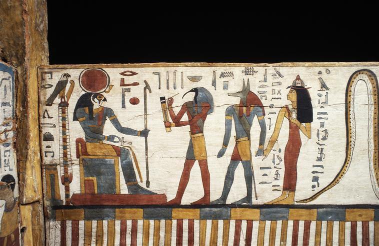 Cercueil de Tachépenkhonsou,joueuse de sistre du dieu Amon-Rê