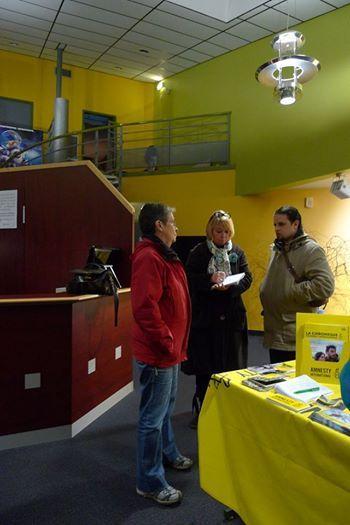 Cinema de Pontivy Projection du Film &quot&#x3B;The Guard&quot&#x3B; et debat au côté de Nathalie Berger d'Amnesty International