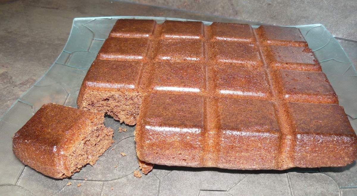 Gâteau choco-noisettes (moule Tablette)