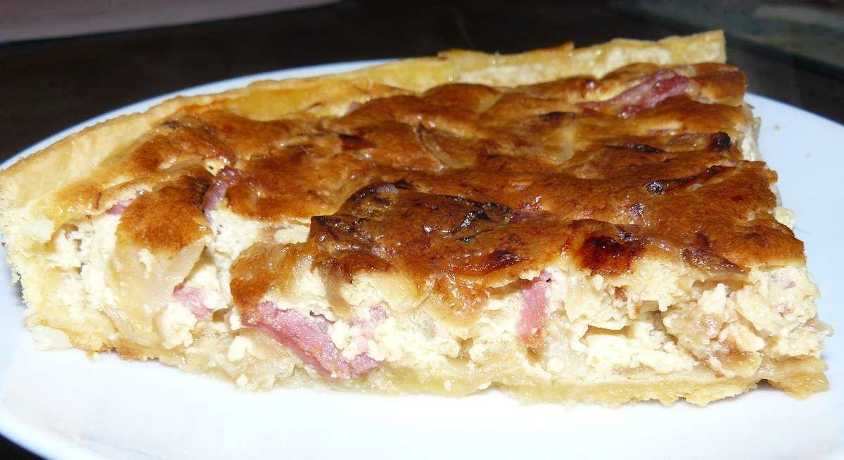 Quiche à l'oignon et au bacon