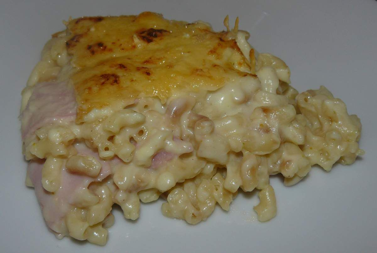 Coquillettes jambon version lasagnes de Christophe Michalak