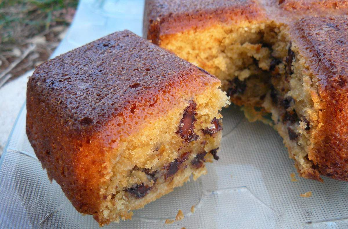 Blondies aux pépites de chocolat et tourbillons de mascarpone
