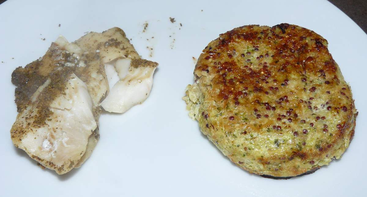 Flan brocolis quinoa boulgour