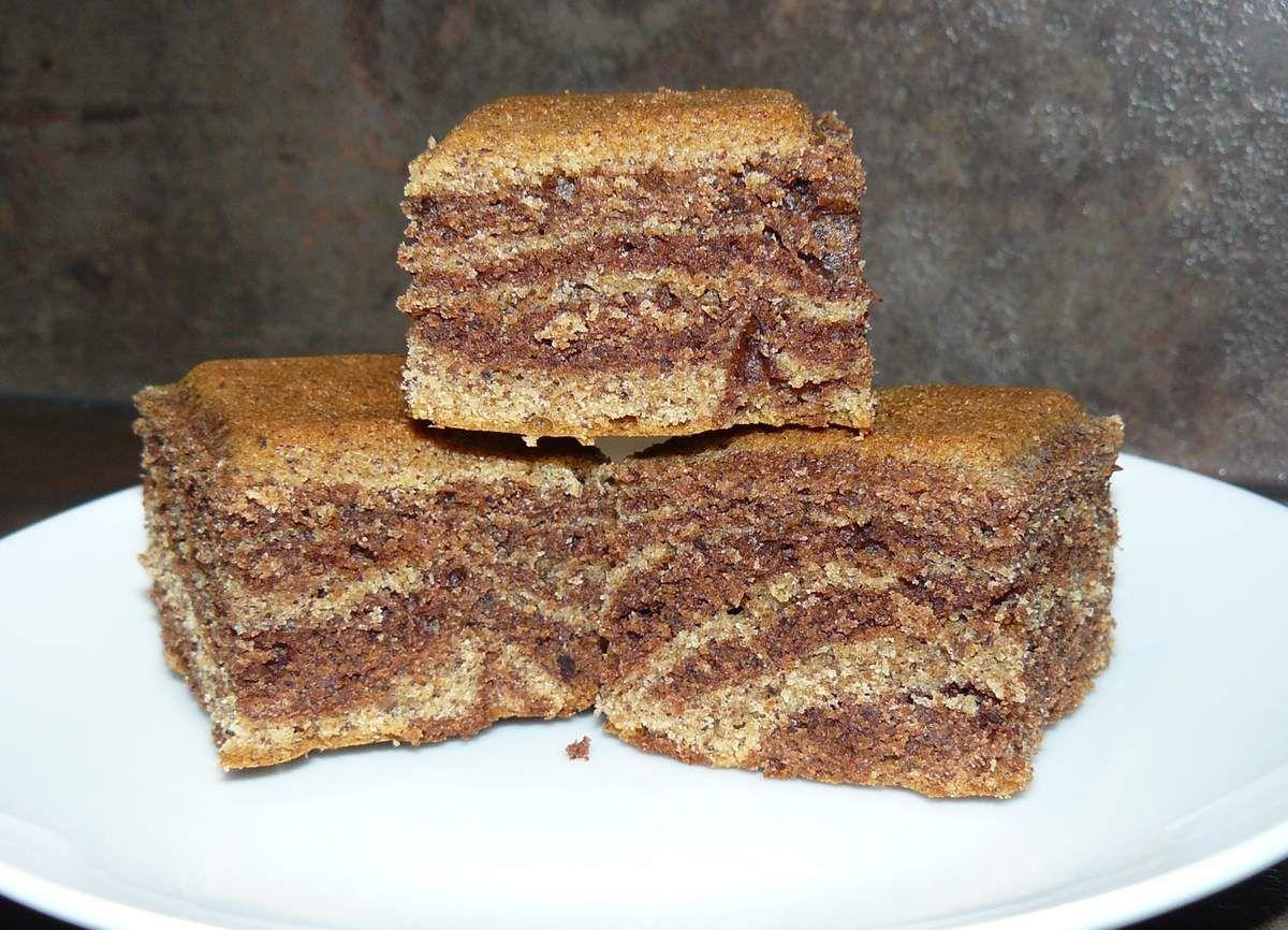 Gâteau marbré à la farine de noisettes