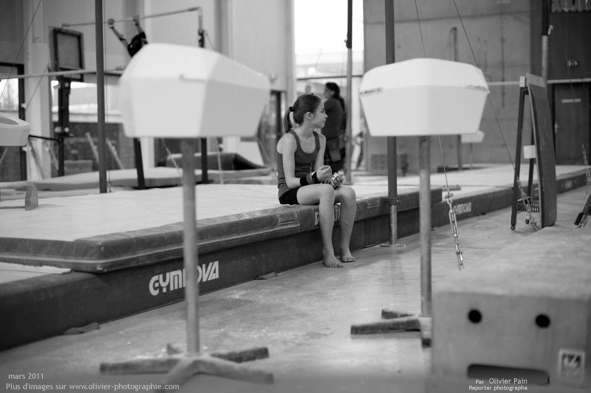 Photographie, reportage Gymnastes : Fanny qui attend.