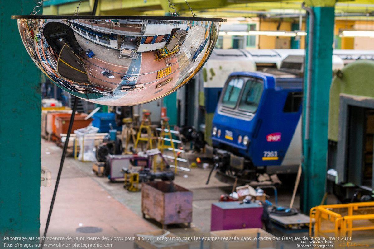 Oeuvre artistique : Préparation des fresques à la gare SNCF de SPdC, partie 3