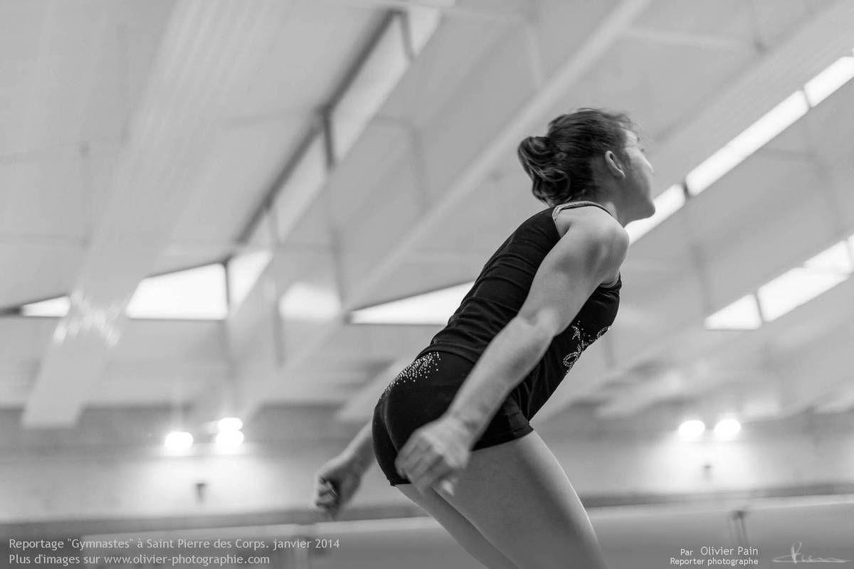 Reportage sur la gymnastique en France. Prises de vues réalisées au gymnase de Saint Pierre des Corps à 4km de Tours.