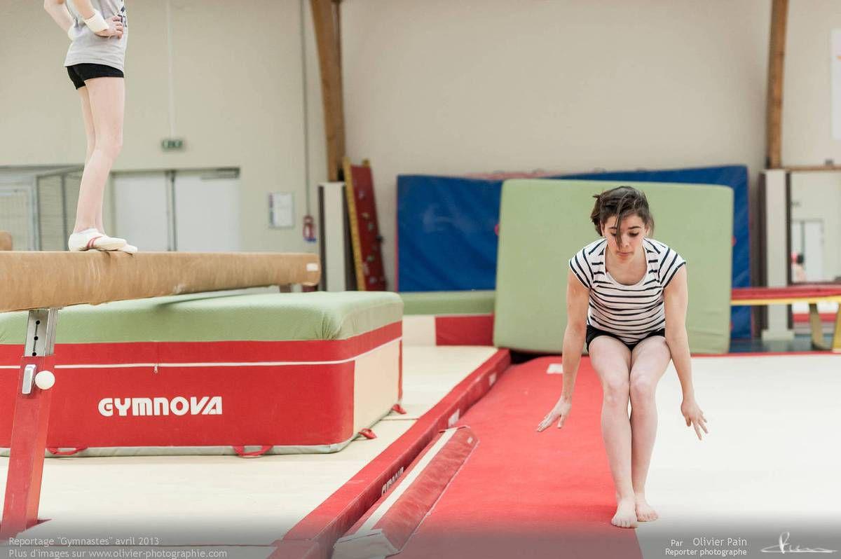 """""""Retrouvailles"""" avec Laurine, une des gymnastes que je suivais depuis 2010 à Saint Pierre des Corps qui est passée au club de Joué les Tours."""