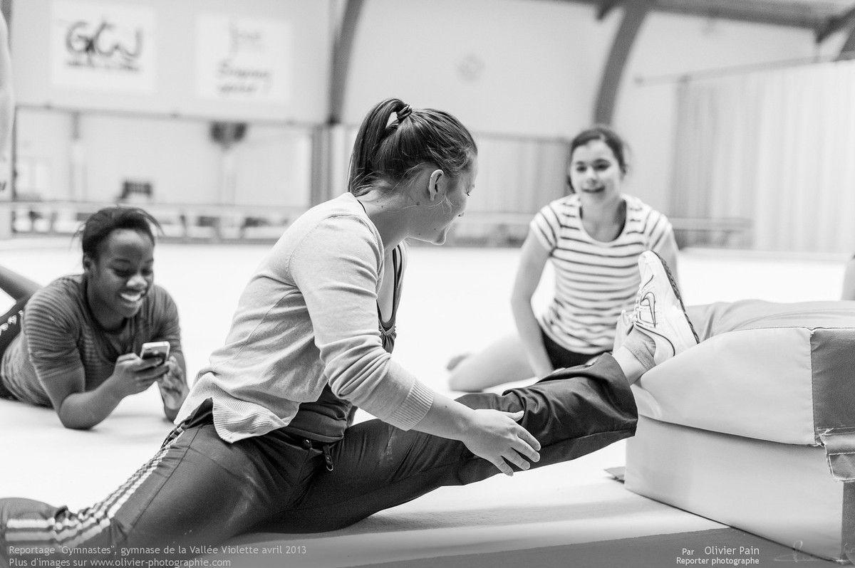 L'avancée de Laurine au gymnase de la vallée violette avec Audrey son entraineure. Reportage sur la gymnastique en France.