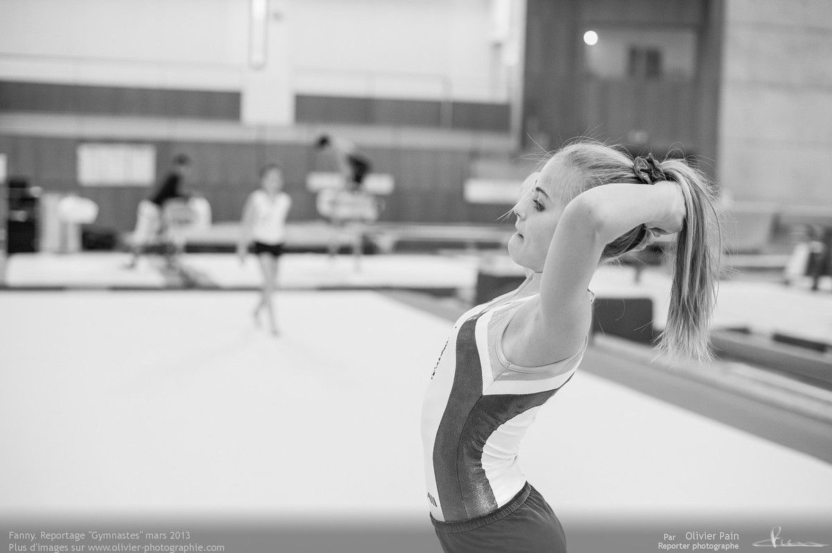 Reportage sur la gymnastique en France réalisé au gymnase du Val Fleuri à Saint Pierre des Corps près de Tours. Suivi d'une équipe de jeunes gymnastes.