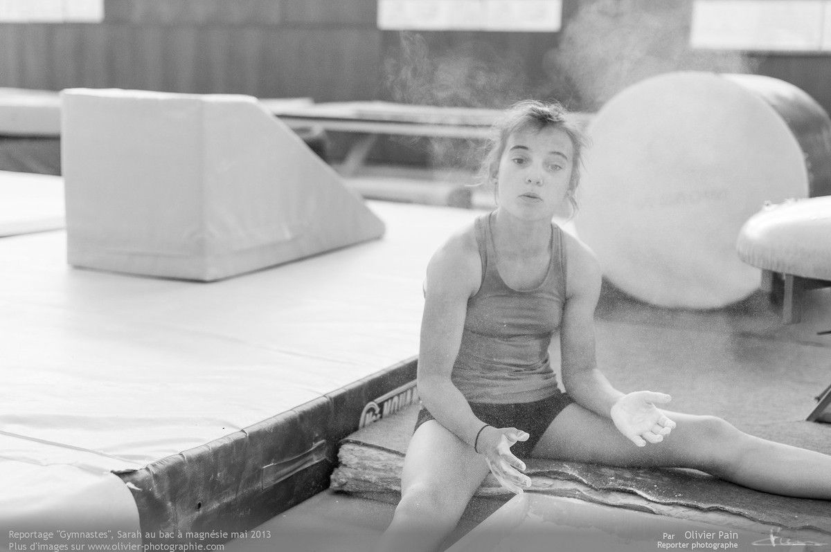 Reportage sur la gymnastique artistique en France réalisé à Saint pierre des corps près de Tours.