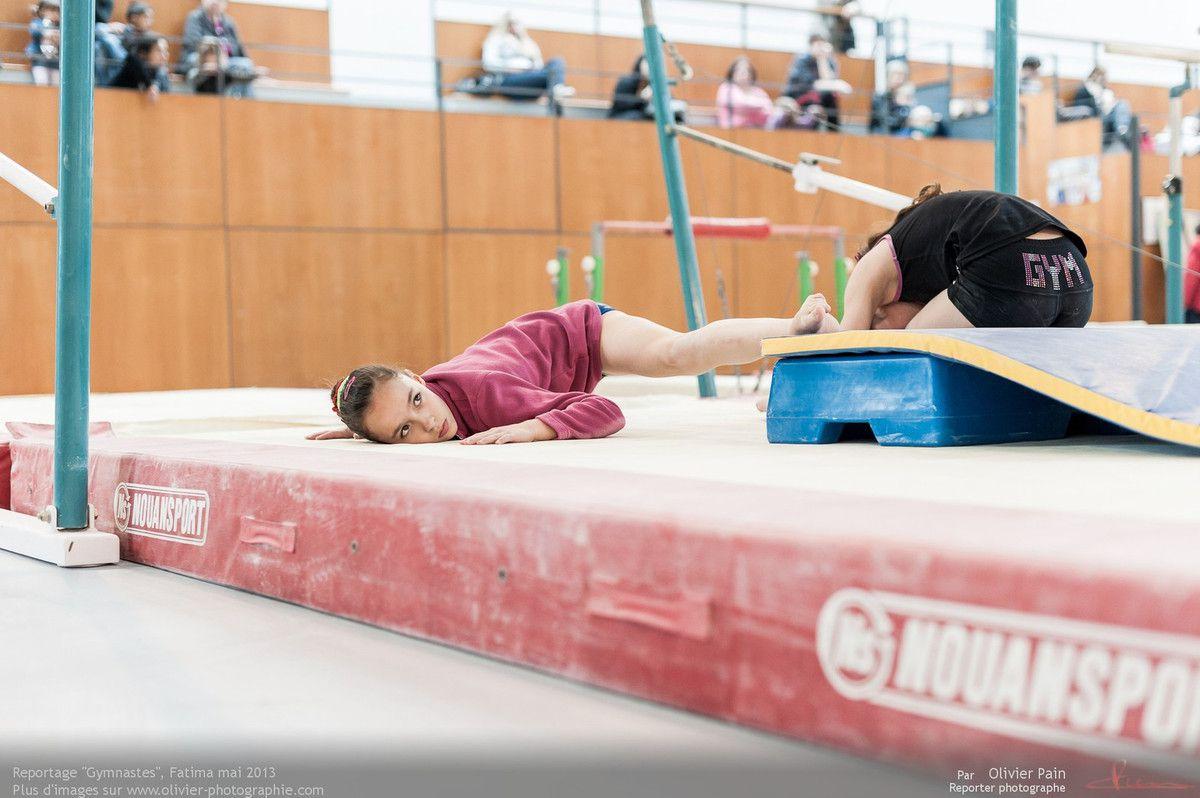 Reportage sur la gymnastique artistique féminine en France réalisé à Saint pierre des corps près de Tours en région centre.