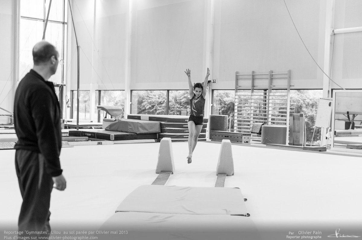 Reportage sur la gymnastique en France réalisé à Saint Pierre des Corps à quelques kilomètres de Tours en région centre.
