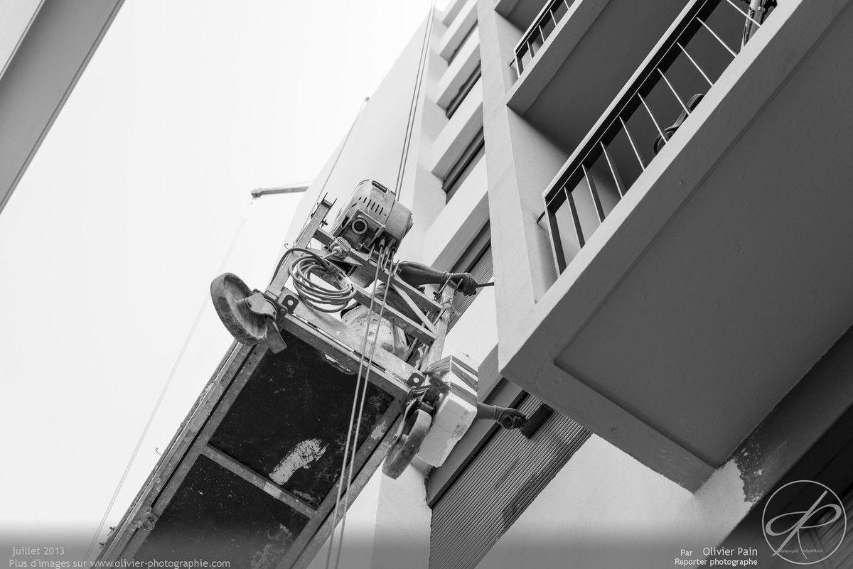 Reportage de suivi de chantier à tours au Sanitas