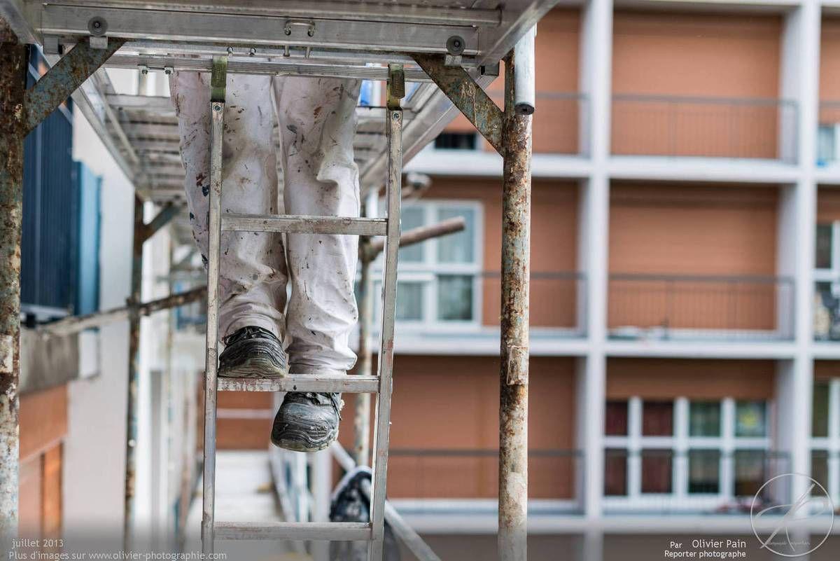 Reportage de suivi de chantier à tours au sanitas.
