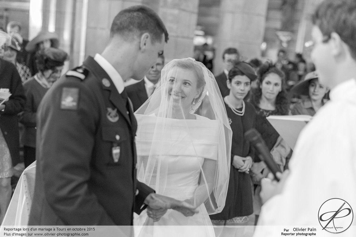 Reportage lors d'un mariage à Tours.
