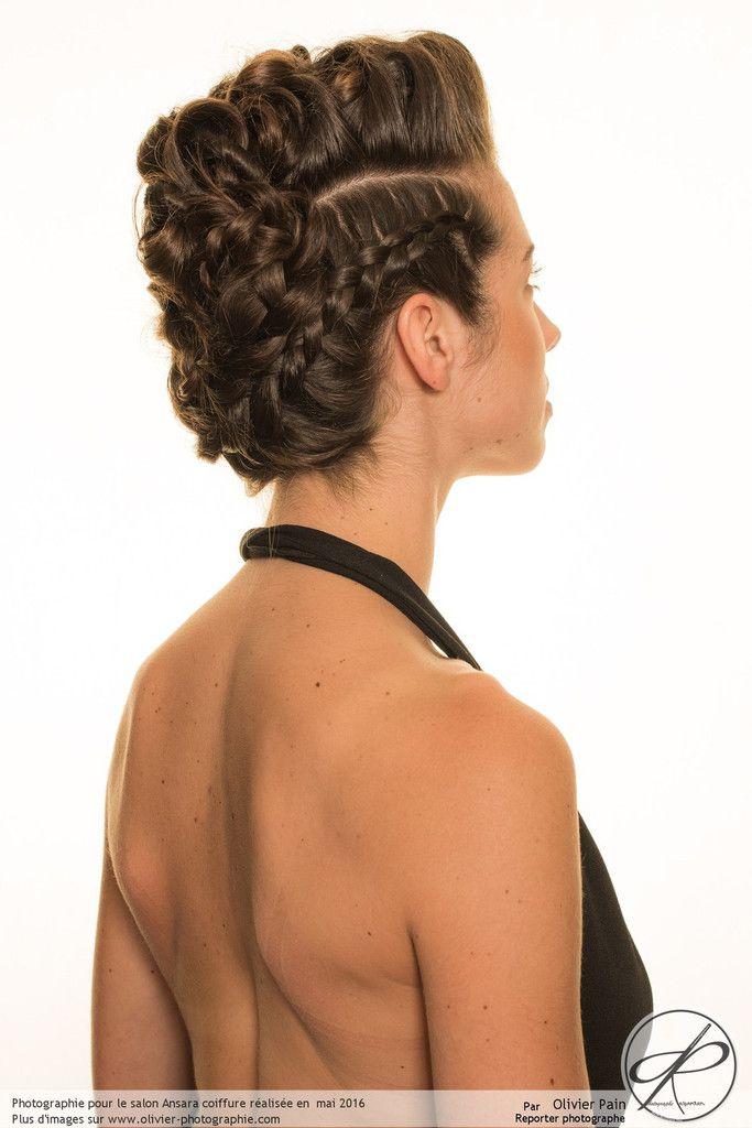 Photographie en studio sur fond blanc pour le salon de coiffure Ansara
