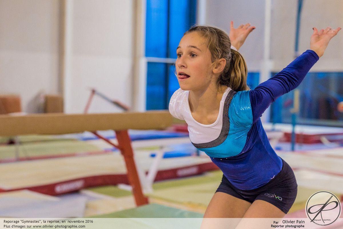 Reportage sur la gymnastique à tours : Gymnastes