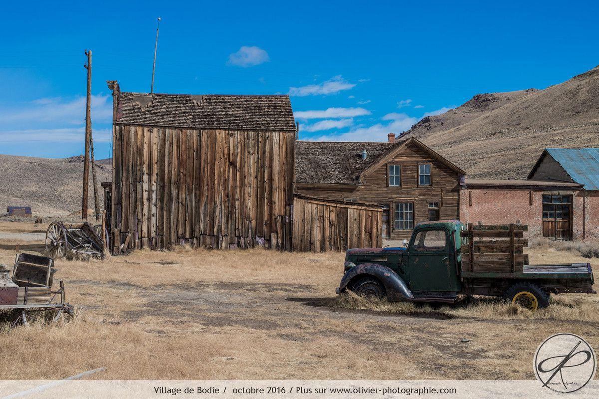 Le village abandonné de Bodie aux états unis.