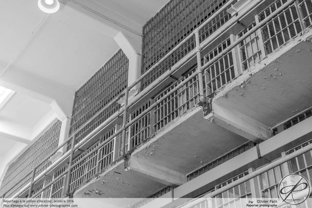 Photoreportage aux états unis : la prison d'alcatraz vue de l'intérieur. Les cellules