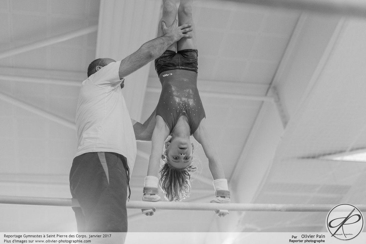 Reportage de suivi d'équipe de gymnastes à Tours