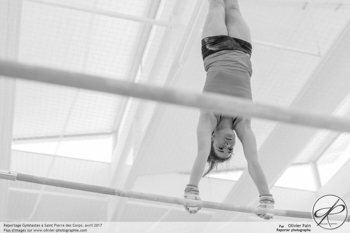 Reportage Gymnaste réalisé à Saint Pierre des Corps près de Tours.