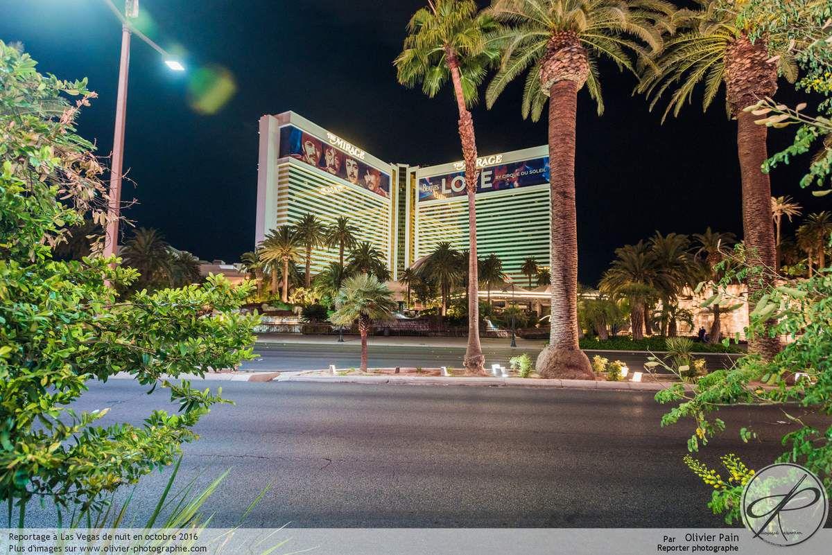 La ville de Las Vegas de nuit. Etats Unis