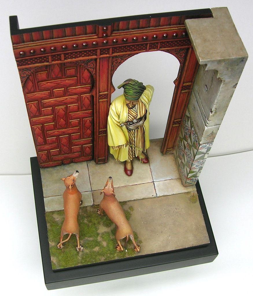 Arabe et ses chiens