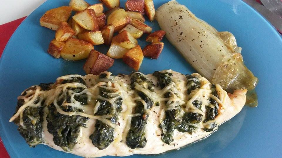 Poulet Hasselback