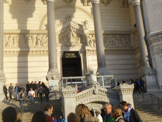 Vue de Lyon du haut de la basilique de fourvières