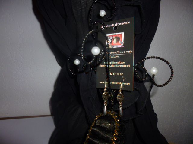 Boucles métal et perles couleur ambre n° 10A sur ce blog ou chez bijouxdusud.eklablog.com