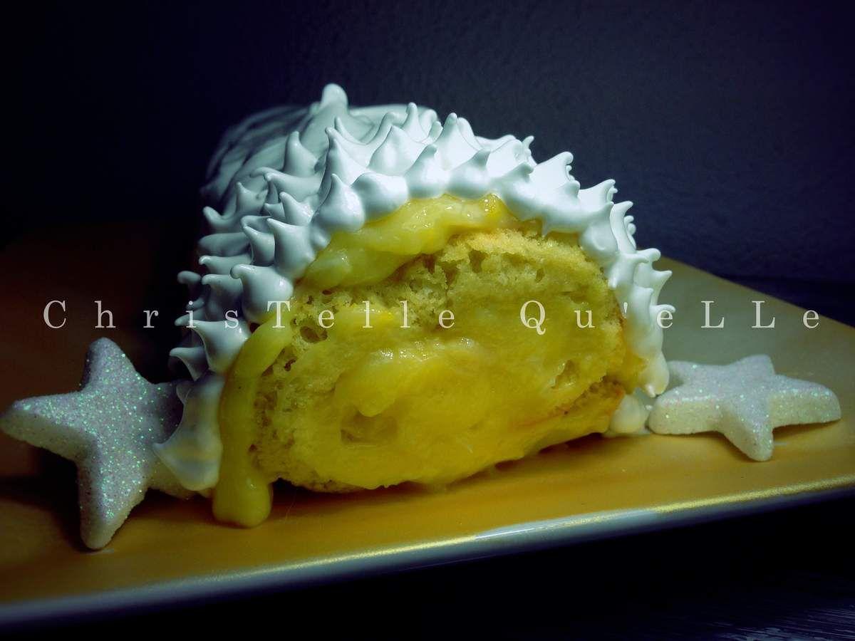 Tarte au citron meringuée ... façon bûche de Noël !!